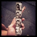 Photo of a photobooth strip from Playland.
