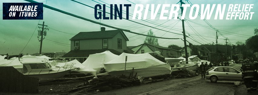 "I designed the artwork for the GLINT ""Rivertown Relief Effort"" EP, which is raising funds for Hurricane Sandy."